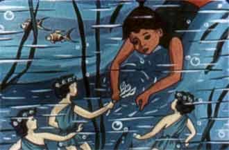 Не задумываясь Ананси прыгнула в холодную воду
