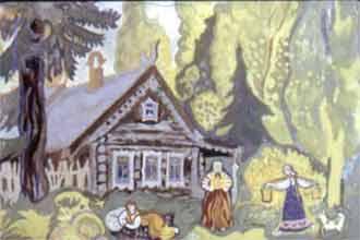 У лесной опушки жила-была вдова с родной дочкой да падчерицей