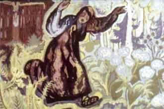 Только девушка за ворота ступила - полилась из ворот смола липкая, всю ленивицу облепила.