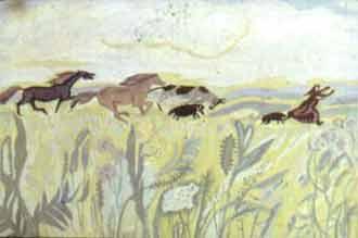 Её овцы толкнули, коровы боднули, кони лягнули.