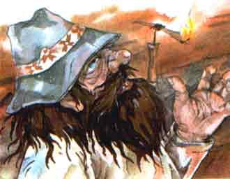 Нечистый думал, что гуменщик его не узнает и принимает за простого крестьянина