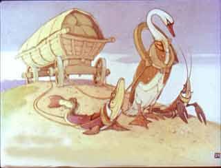 Лебедь, щука и рак Крылов