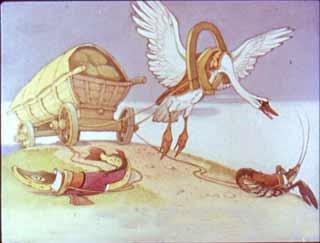 Лебедь, щука и рак. И.А.Крылов