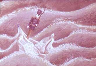И вдруг лодочка завертелась на месте, зачерпнула воду правым бортом