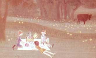 И закричали от восторга, когда увидели все лакомства, которые Пеппи разложила на голой горной плите.