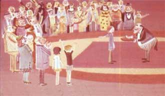 А директор цирка был вынужден выйти на арену и вручить Пеппи ассигнацию в сто крон.