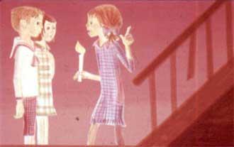 А что, если подняться на чердак и поздороваться с привидением? - предложила Пеппи.