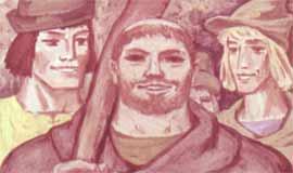 Много верных помощников было у Робин Гуда: и верзила по кличке Маленький Джон, и веселый монах Тук, и отважный тощий лучник