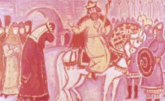 Царь Салтан, с женой прост