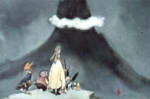 Вот пришли они на макушку высокой горы.