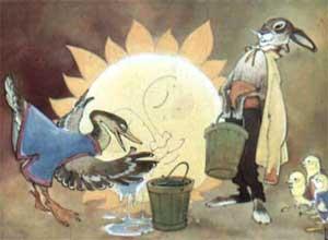 Услыхала про это утка - давай солнце водой умывать.