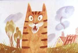 Жил-был тигрёнок, по имени Берт. Зубы у него были большие, белые и острые